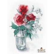 """Набор для вышивания крестом Овен """"Розы и снежноягодник"""""""