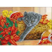 """Набор для вышивания крестом Паутинка """"Рождественский котик"""""""