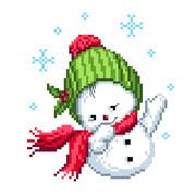 "Канва/ткань с нанесенным рисунком Матрёнин посад ""Снеговик"""