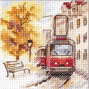 """Набор для вышивания крестом Алиса """"Осень в городе. Трамвай"""""""
