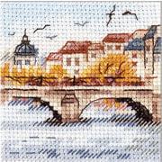"""Набор для вышивания крестом Алиса """"Осень в городе. Чайки над мостом"""""""