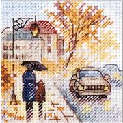"""Набор для вышивания крестом Алиса """"Осень в городе. Мокрый бульвар"""""""