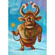 """Канва/ткань с нанесенным рисунком Конёк """"Рождественский бычок"""""""