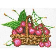"""Канва/ткань с нанесенным рисунком М.П. Студия """"Корзина с вишнями"""""""