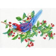 """Канва/ткань с нанесенным рисунком М.П. Студия """"Попугай на ветке"""""""
