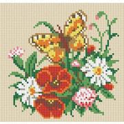 """Набор для выкладывания мозаики Белоснежка """"Бабочка на лугу"""""""