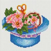 """Набор для выкладывания мозаики Белоснежка """"Шляпа с цветами"""""""