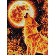 """Набор для выкладывания мозаики Алмазная живопись """"Огненный волк"""""""