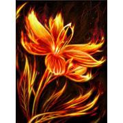 """Набор для выкладывания мозаики Алмазная живопись """"Огненный цветок"""""""