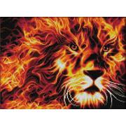 """Набор для выкладывания мозаики Алмазная живопись """"Огненный лев"""""""