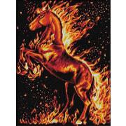 """Набор для выкладывания мозаики Алмазная живопись """"Огненный конь"""""""