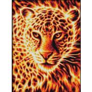 """Набор для выкладывания мозаики Алмазная живопись """"Огненный леопард"""""""