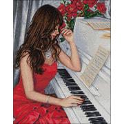 """Набор для выкладывания мозаики Алмазная живопись """"Пианистка"""""""