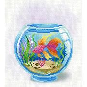 """Канва/ткань с нанесенным рисунком М.П. Студия """"Взгляд золотой рыбки"""""""