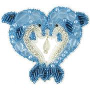 """Набор для вышивания бисером Crystal Art """"Дельфины"""""""