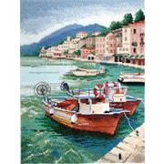 """Набор для вышивания крестом Марья искусница """"Лодки"""""""