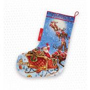 "Набор для вышивания крестом Letistitch ""The Reindeers on it's way! Stocking"""