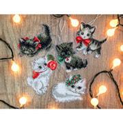 "Набор для вышивания крестом Letistitch ""Christmas Kittens Toys"""