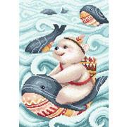 """Набор для выкладывания мозаики Brilliart (от МП Студии) """"Мишка и кит"""""""