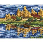 """Набор для выкладывания мозаики Brilliart (от МП Студии) """"Пасмурная осень"""""""