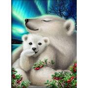 """Набор для выкладывания мозаики Алмазная живопись """"Белые медведи"""""""