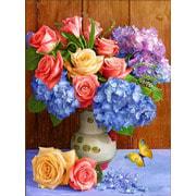 """Набор для выкладывания мозаики Алмазная живопись """"Букет из роз и пышных гортензий"""""""