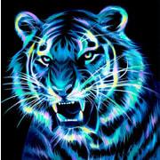 """Набор для выкладывания мозаики Алмазная живопись """"Неоновый тигр"""""""