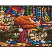 """Набор для выкладывания мозаики Белоснежка """"Библиотека кошек"""""""