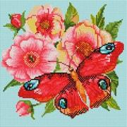 """Набор для выкладывания мозаики Белоснежка """"Пионы и бабочка"""""""