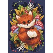 """Набор для выкладывания мозаики Brilliart (от МП Студии) """"Осенняя лисица"""""""