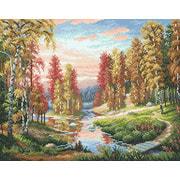 """Набор для выкладывания мозаики Brilliart (от МП Студии) """"Осенний закат"""""""