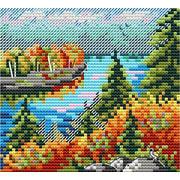"""Набор для вышивания крестом М.П. Студия """"Осенний лес"""""""