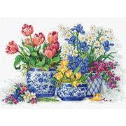 """Набор для вышивания крестом Luca-S """"Весенние цветы"""""""