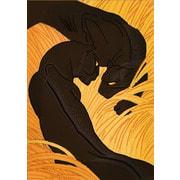 "Канва/ткань с нанесенным рисунком Конёк ""Пантеры"""