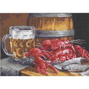 """Канва/ткань с нанесенным рисунком Каролинка """"Пиво с раками"""""""