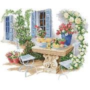 """Набор для вышивания крестом Белоснежка """"Окно в сад"""""""