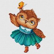 """Набор для вышивания крестом Белоснежка """"Совушка с бабочкой"""""""