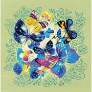 """Набор для вышивания крестом Риолис """"Панно/подушка Яркие бабочки"""""""
