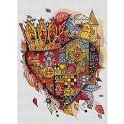 """Набор для вышивания гладью Белоснежка """"Королевское сердце"""""""