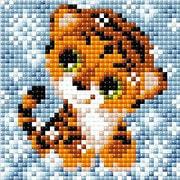 """Набор для выкладывания мозаики Риолис """"Снежный тигренок"""""""