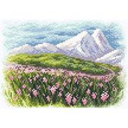 """Набор для вышивания крестом Brilliart (от МП Студии) """"Весна в предгорье"""""""