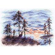 """Набор для выкладывания мозаики Brilliart (от МП Студии) """"Алый закат"""""""