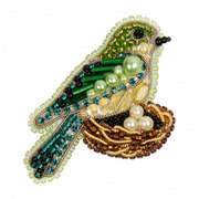 """Набор для вышивания бисером Crystal Art """"Птичка в гнезде"""""""