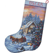 """Набор для вышивания крестом Letistitch """"Christmas Eve Stocking"""""""
