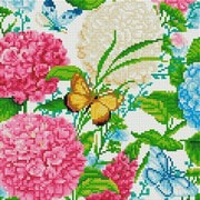 """Набор для выкладывания мозаики Белоснежка """"Гортензии и бабочки"""""""
