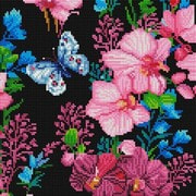 """Набор для выкладывания мозаики Белоснежка """"Розовые орхидеи"""""""