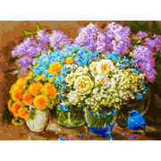 """Набор для раскрашивания Белоснежка """"Весенние цветы"""""""
