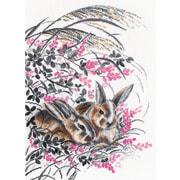 """Набор для вышивания крестом Овен """"Кролики"""""""