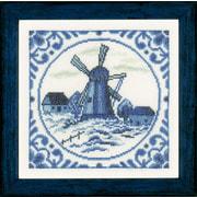 """Набор для вышивания крестом Vervaco """"Ветровая мельница Дельфта"""""""