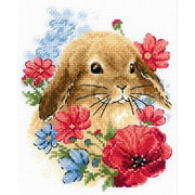 """Набор для вышивания крестом Риолис """"Кролик в цвета"""""""